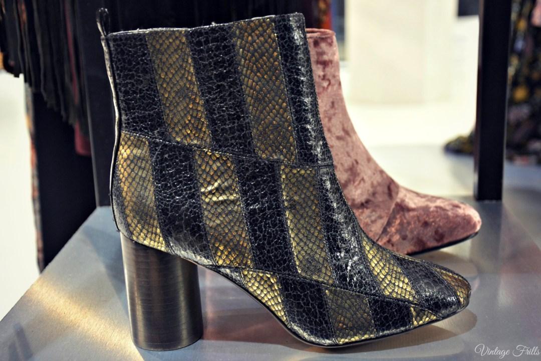 ASOS AW15 Press Day Metallic Snakeskin Ankle Boots