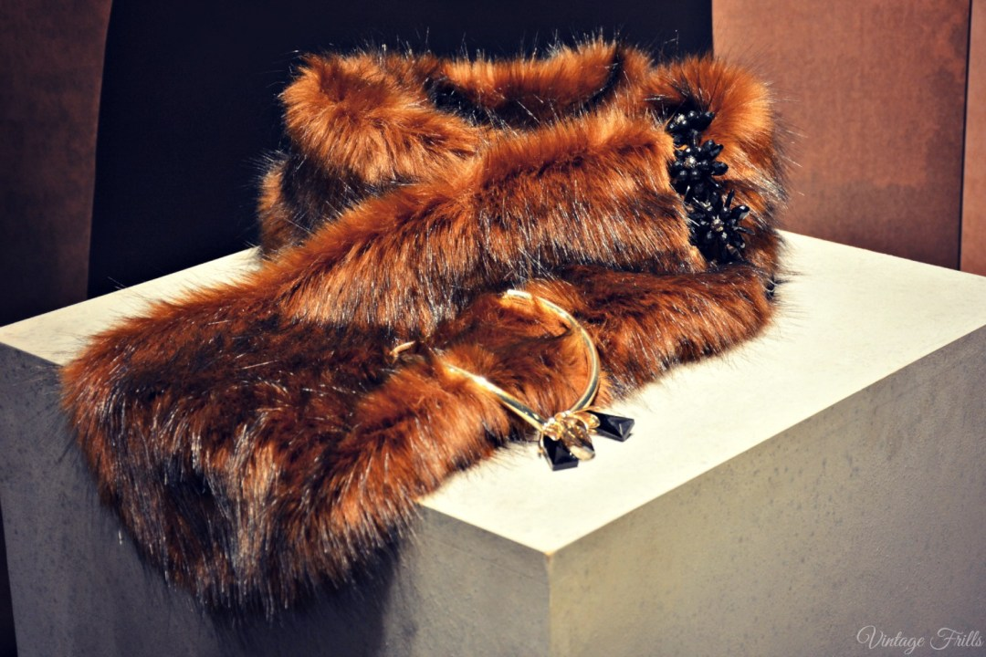 Coast AW15 Press Day Brown Fur Stole