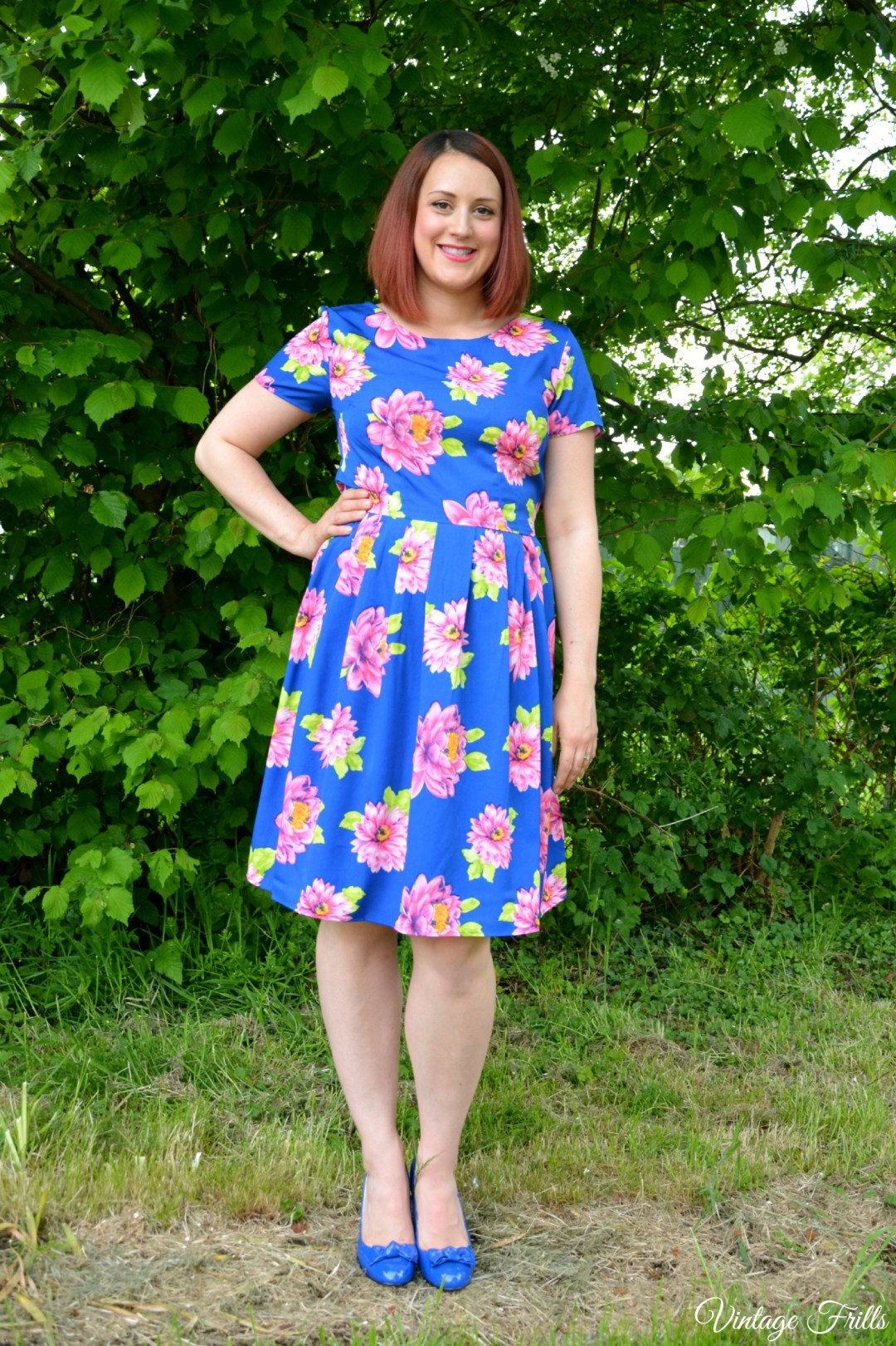 Peacocks Blue Floral Formal Prom Dress Review