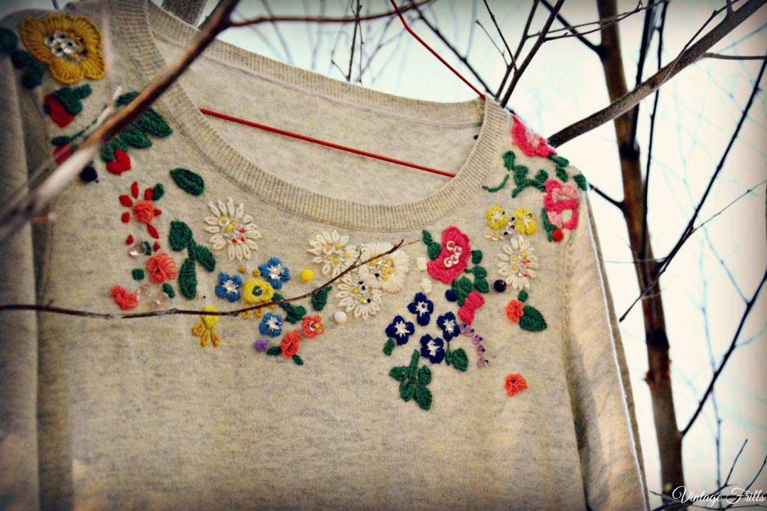 Cath Kidston AW15 Press Day - Embroidered Grey Sweater