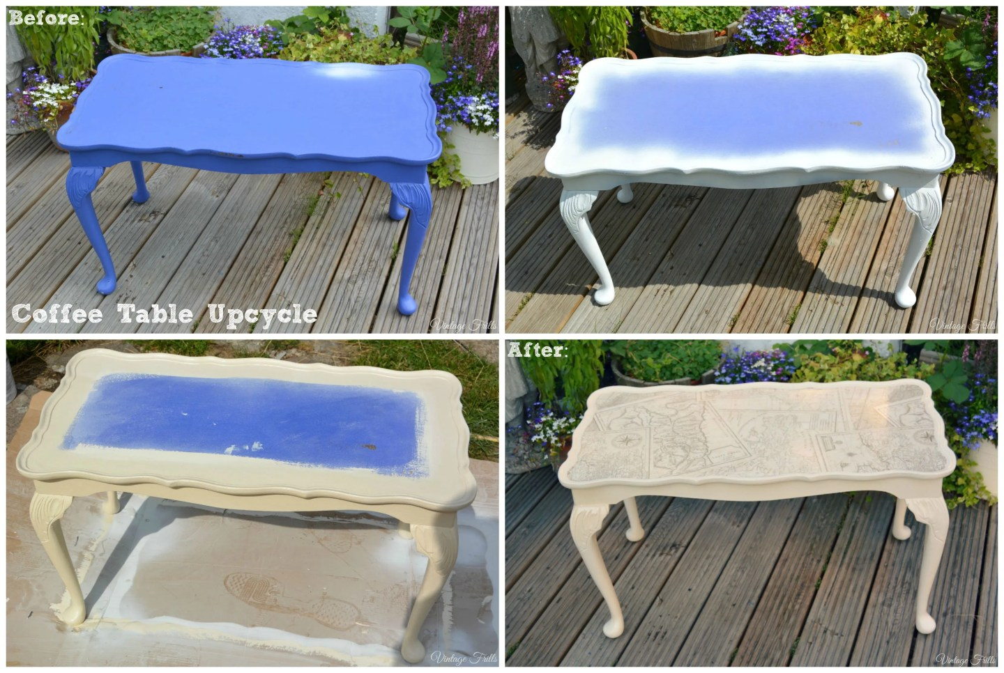 Coffee Table Upcycle  Vintage Frills