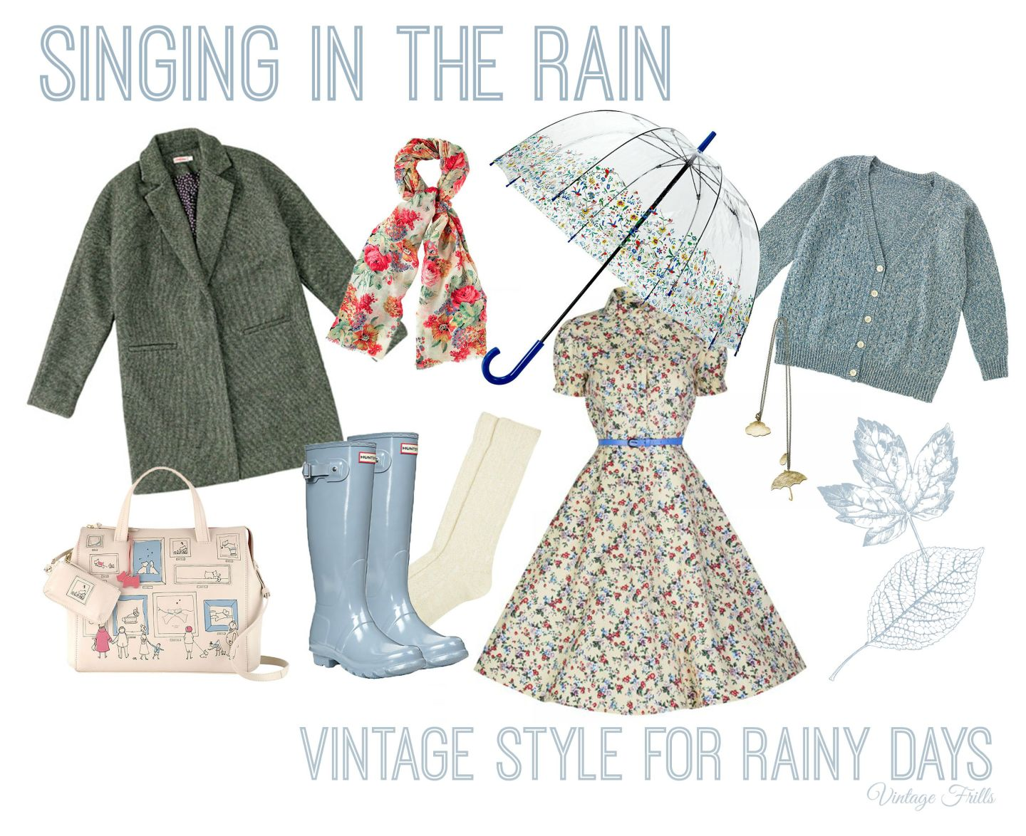 Singing in the rain Vintage Frills