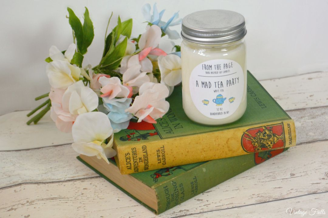 A Mad Tea Party Soy Candle  From The Page  Uncommon Goods  Vintage Frills