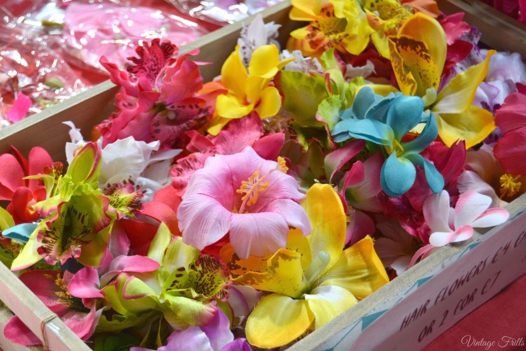 Hair Flowers Mid Century market