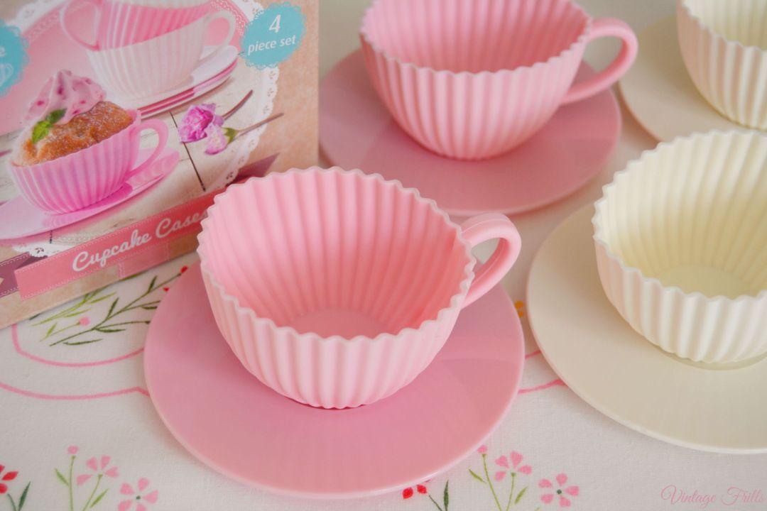 Lidl Silicone Teacup Cake Cases  Vintage Frills
