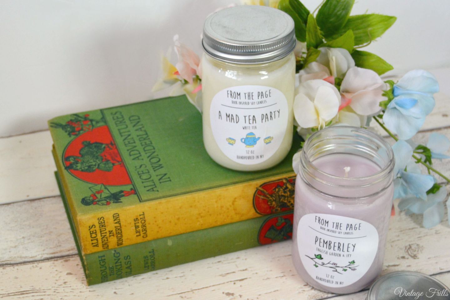 Literary Candles  From the Page  Uncommon Goods  Vintage Frills