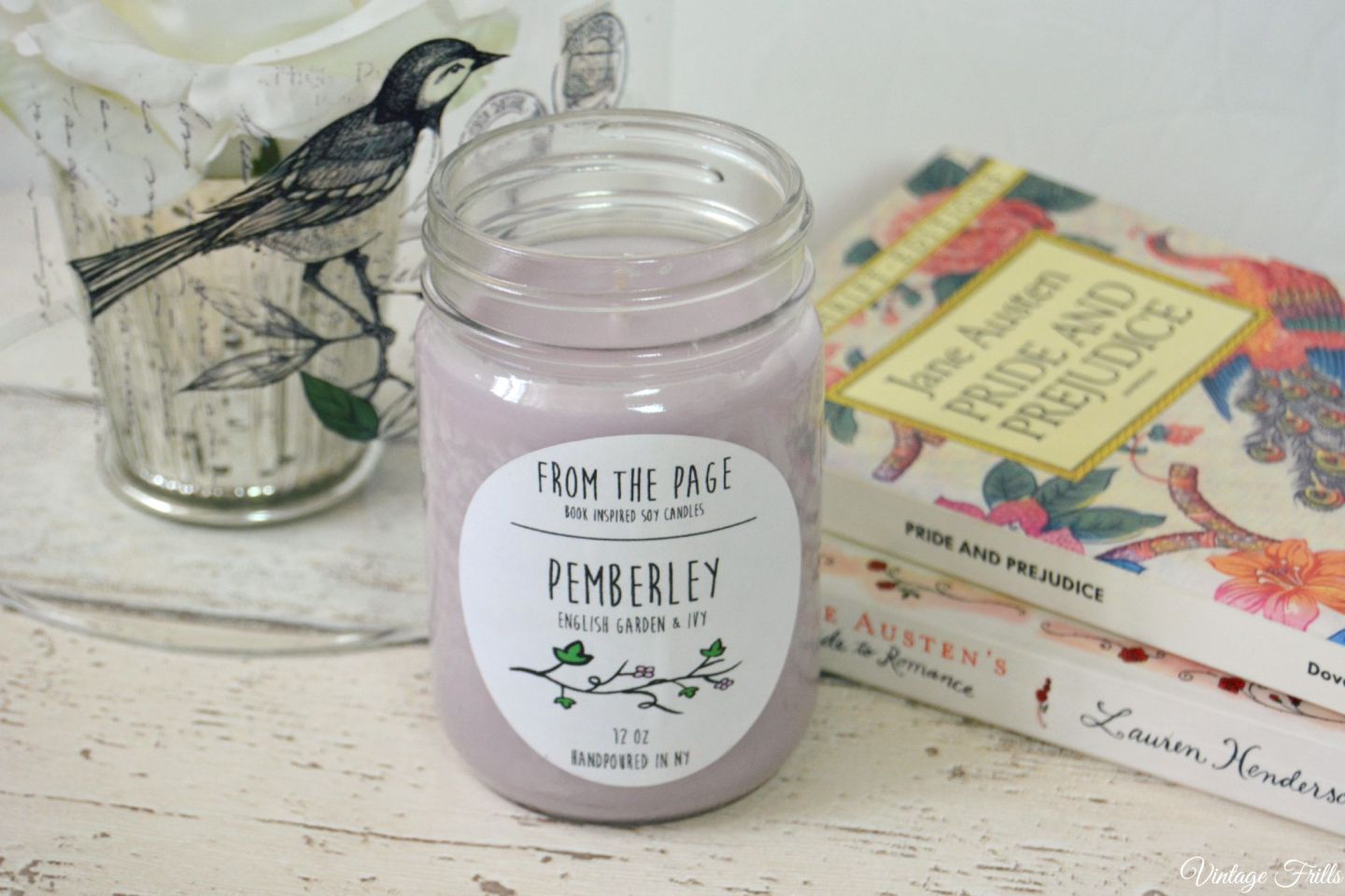 Pemberley Pride and Prejudice Candle  From the page  Uncommon Goods  Vintage Frills
