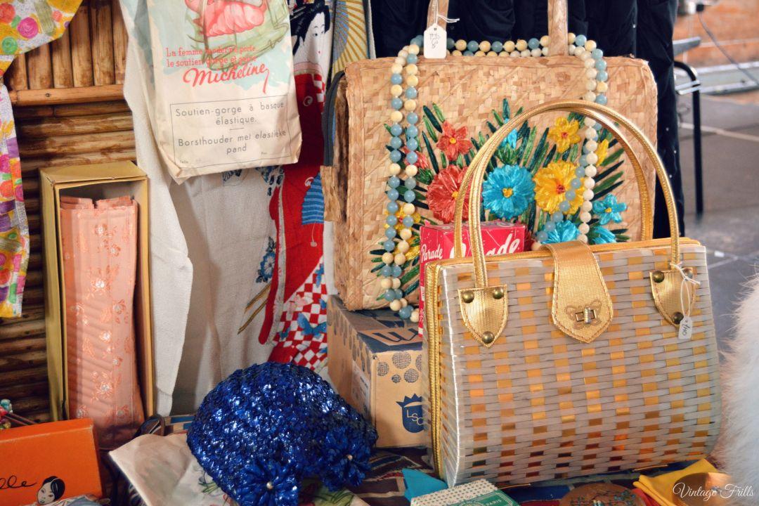 Vintage Wicker Bags Mid Century Market