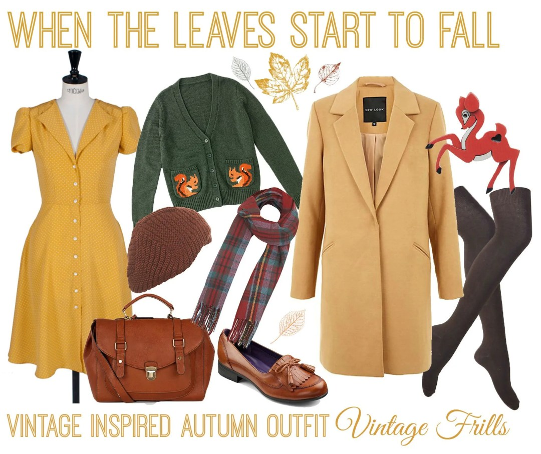 When the leaves start to fall  Autumn Outfit Ideas  Vintage Frills