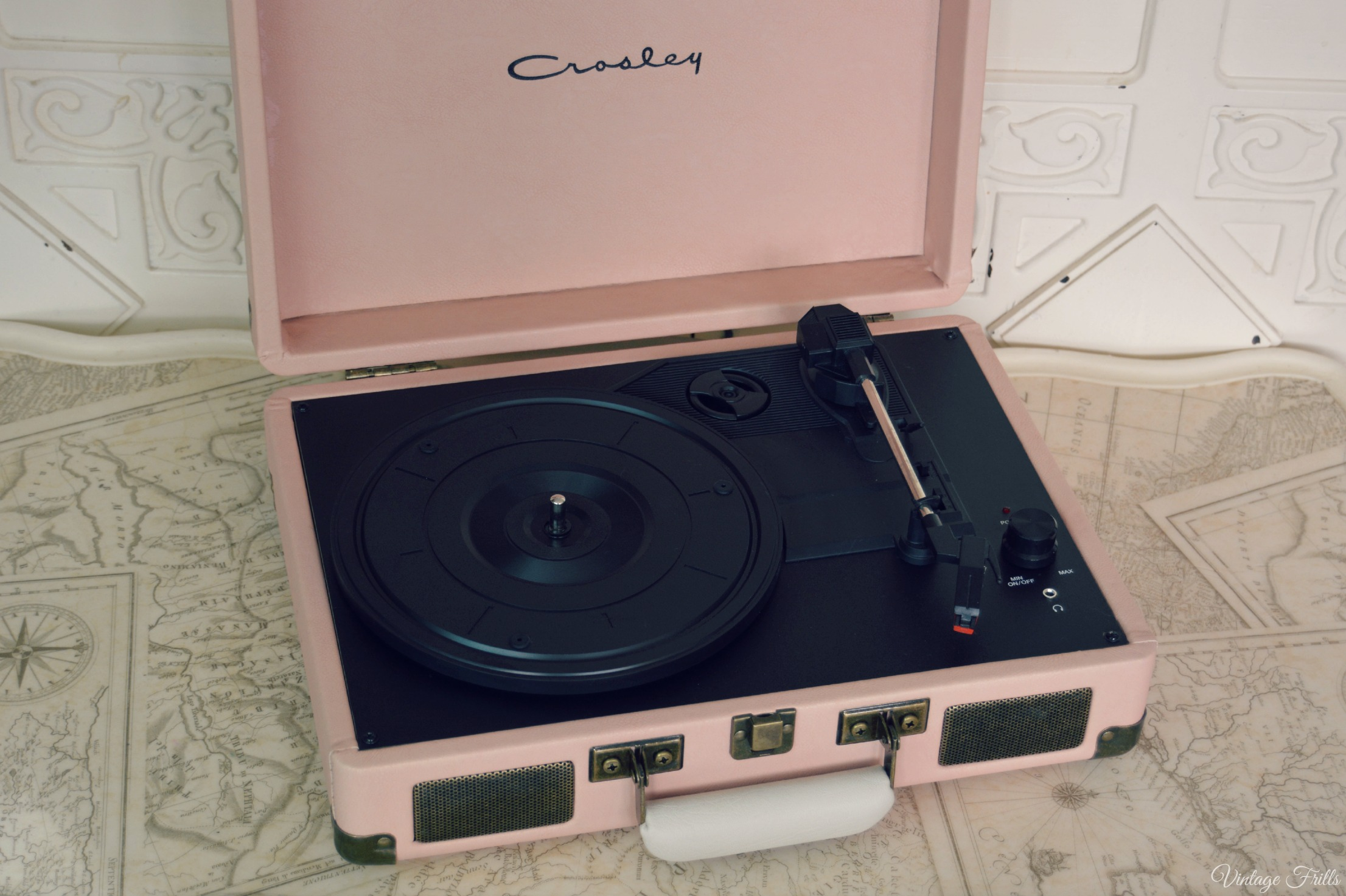 Our Pink Crosley Record Player Vintage Frills