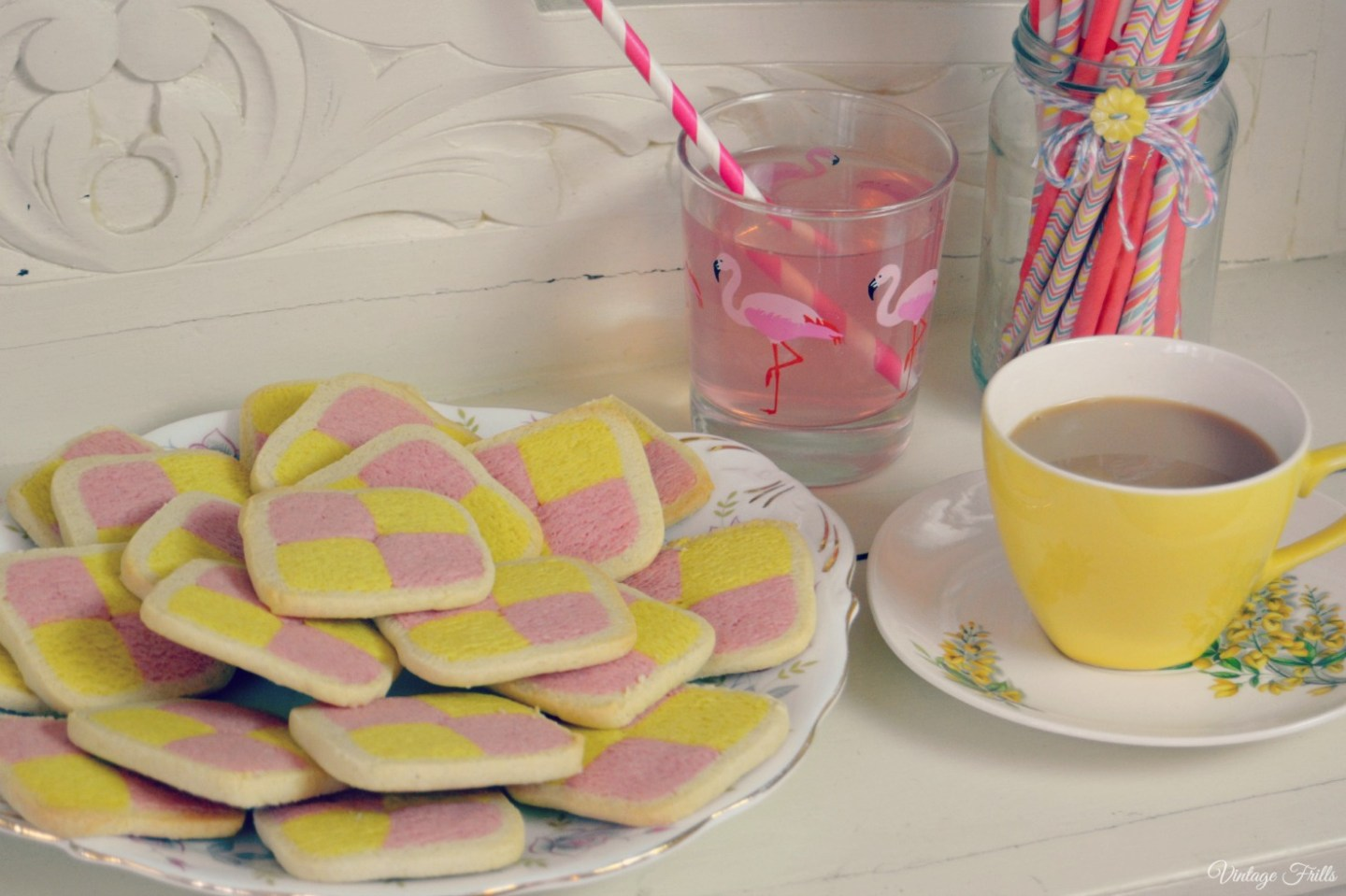 How to Make Battenberg biscuits.