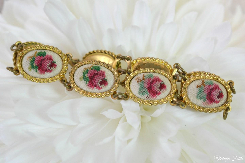 Vintage Petit Point Bracelet