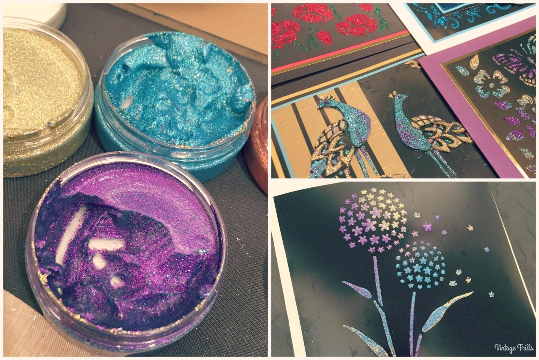 Hochanda Press Day Glitter Art
