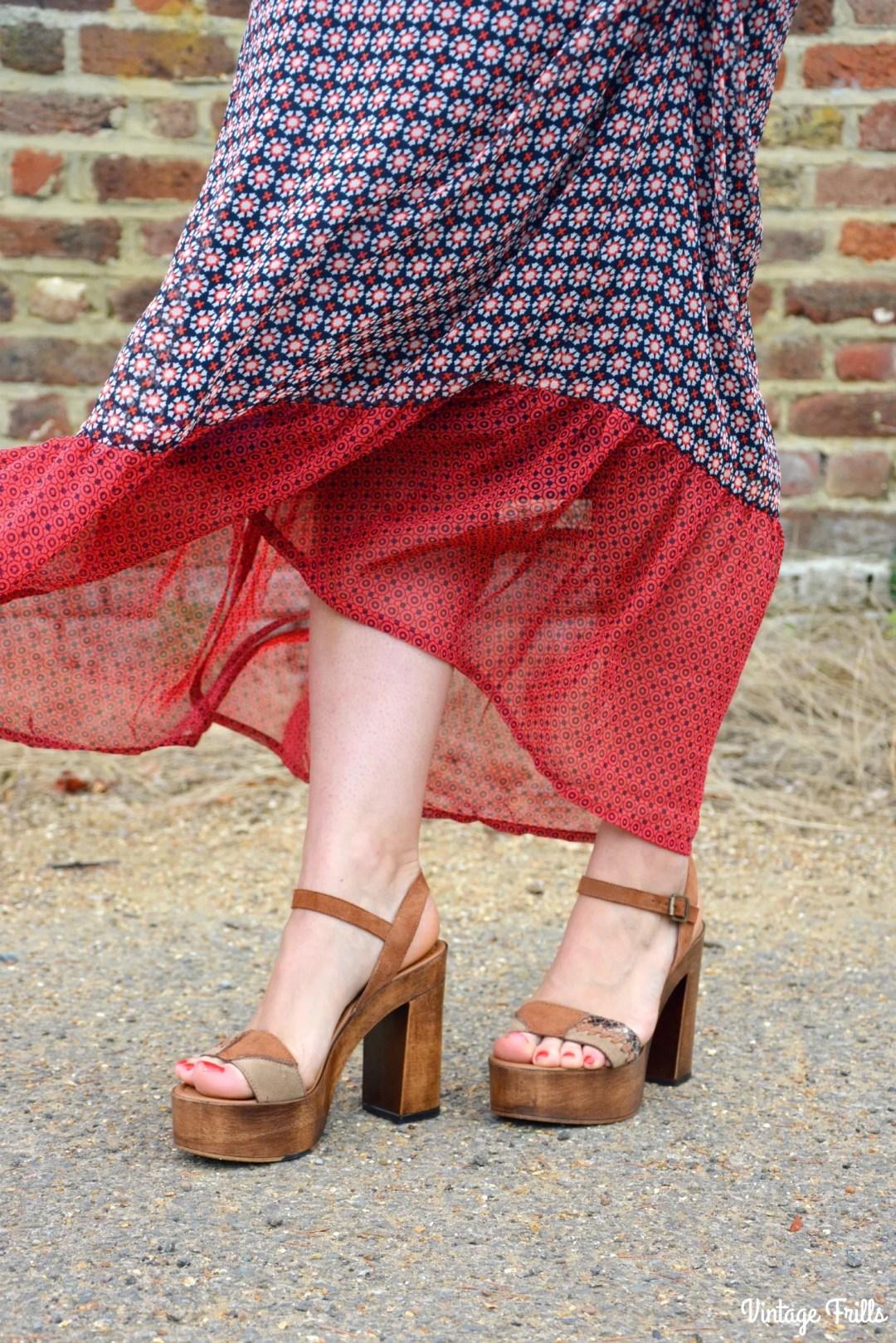 JD Williams 70s Style Platform Sandals
