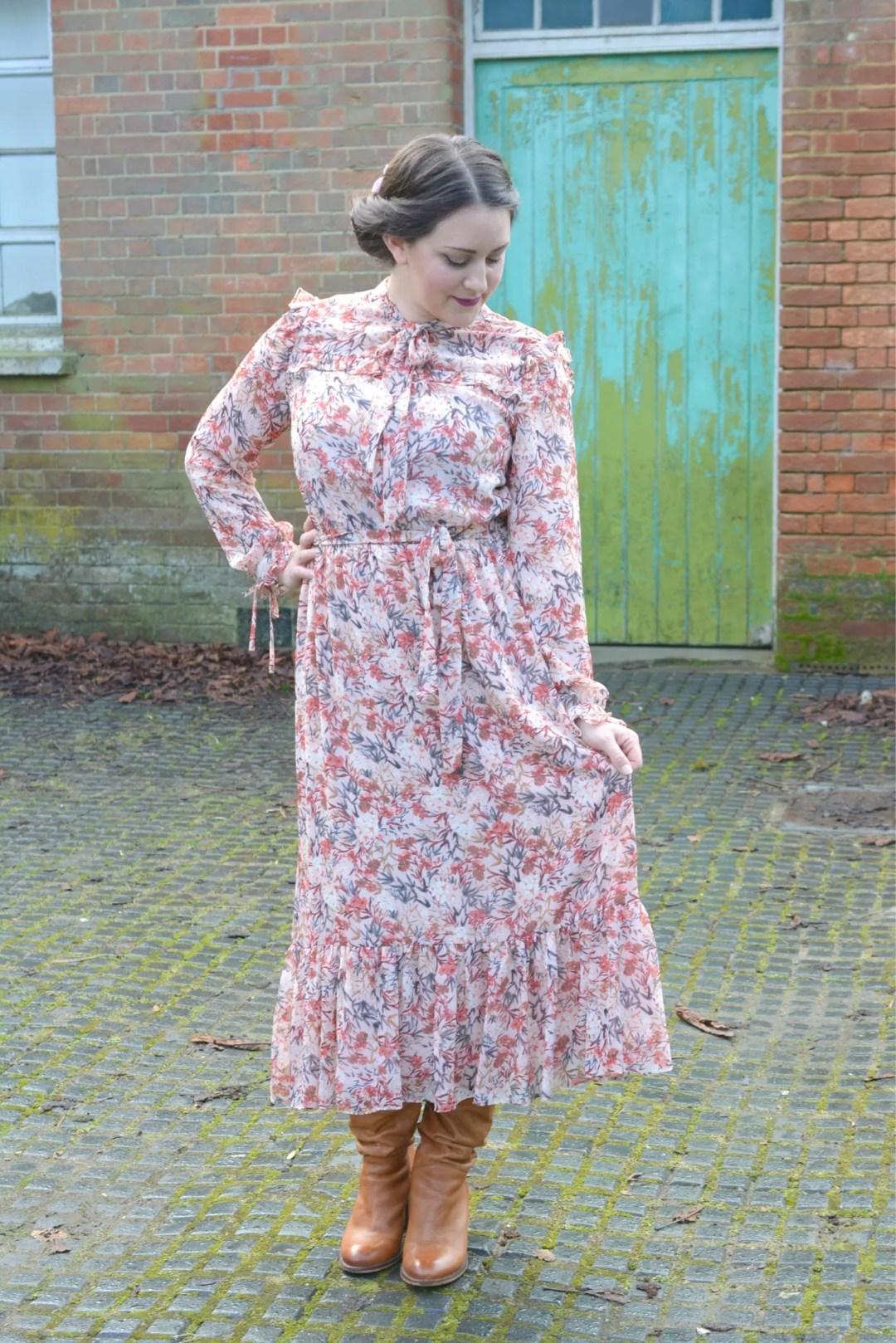 Laura Ashley Floral Ruffle Dress 2