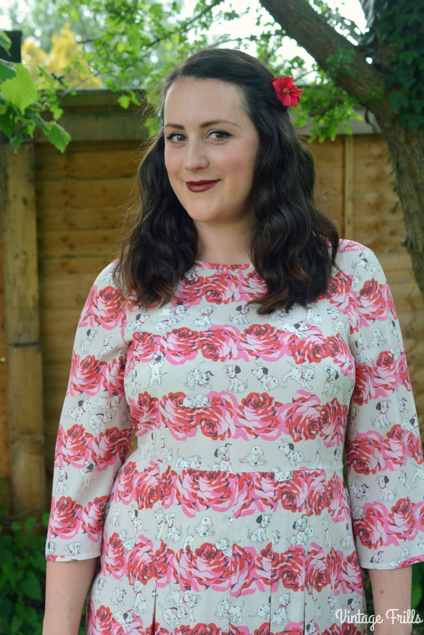 Disney Cath Kidston 101 Dalmations Puppy and Rose Dress #OOTD