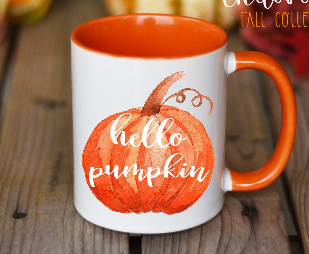 Etsy Halloween Decorations Pumpkin Mug