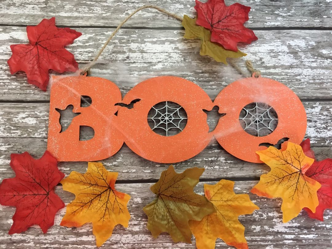 Etsy Halloween Decorations Boo Sign