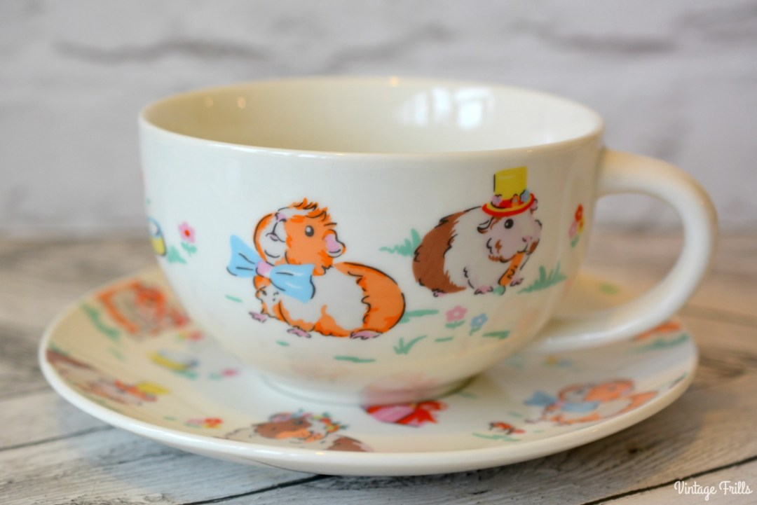 Cath Kidston Pet's Party Breakfast Tea Cup and Saucer