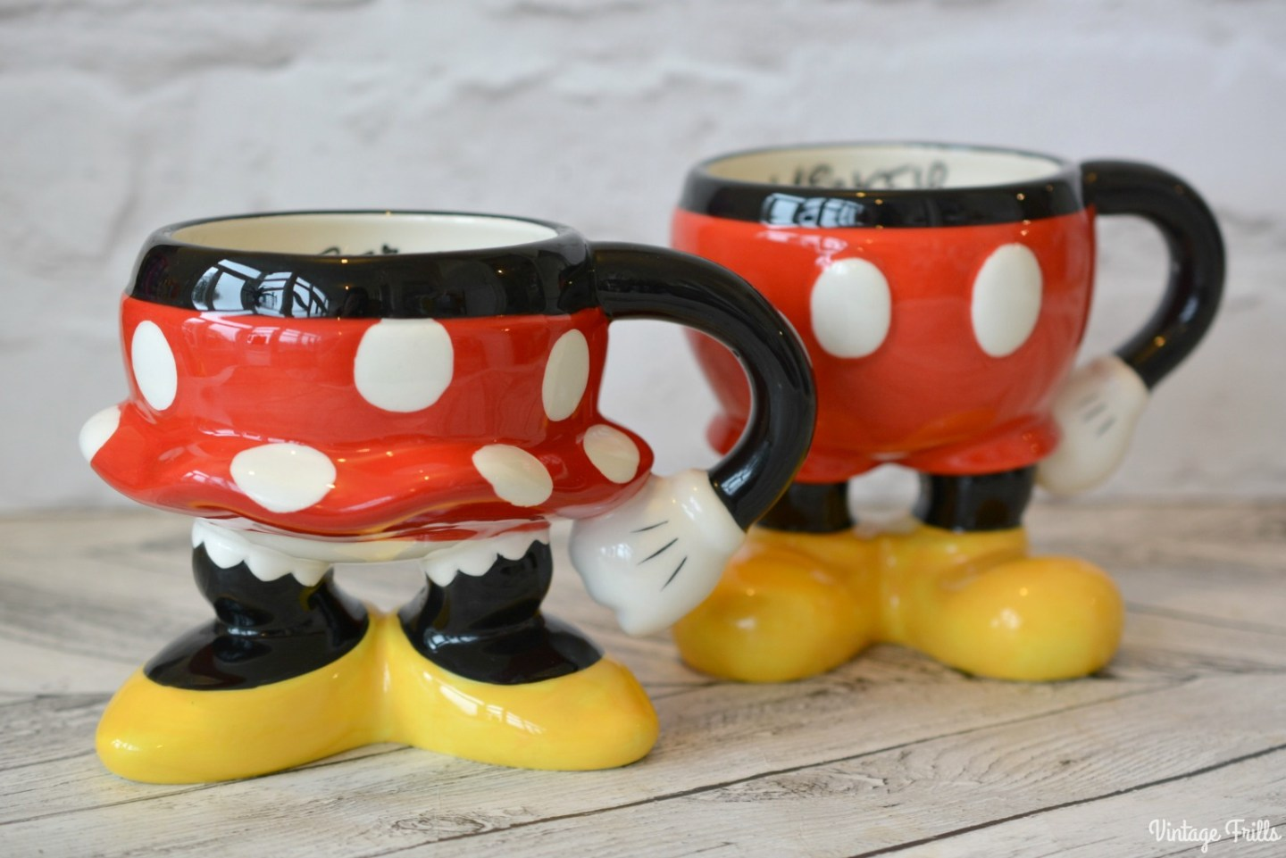 Disney World Mickey and Minnie Leg Mugs