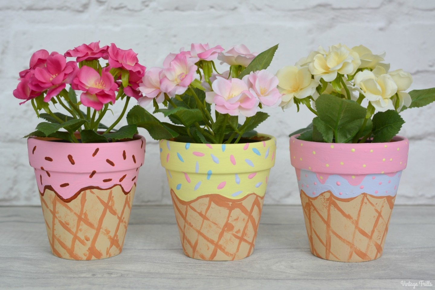 The Ice Cream Theme Pretty Plant Pots For Lilas Room Vintage Frills