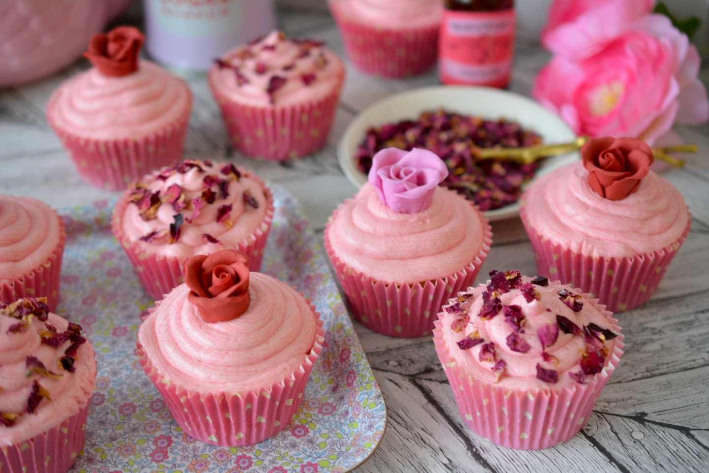 Baking – Beautiful Rosewater Cup Cake Recipe