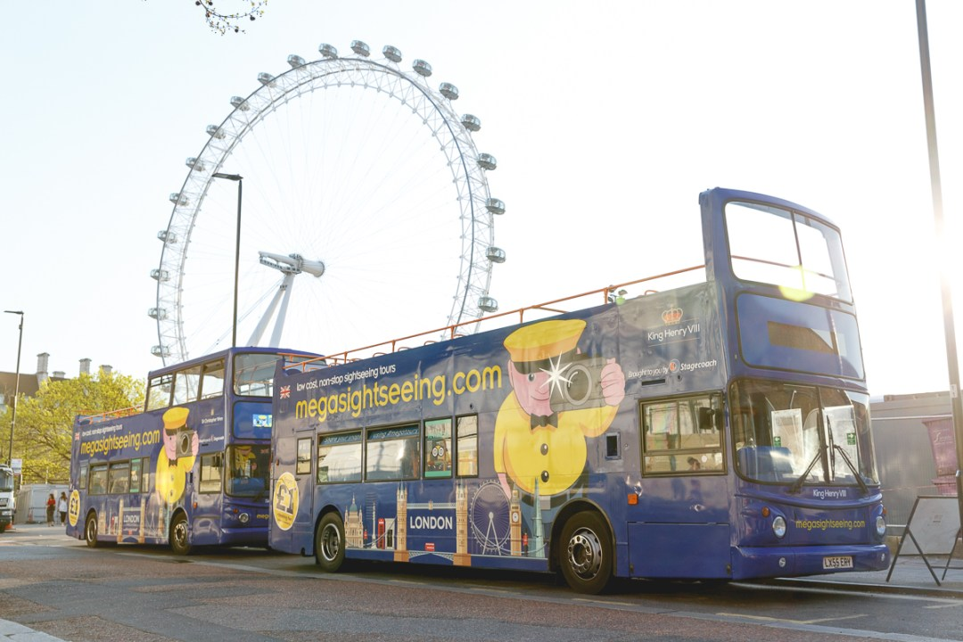 Mega Sightseeing London Tour Bus