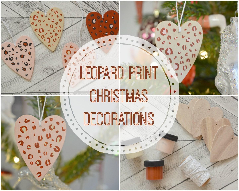DIY Wooden Leopard Print Christmas Decorations #Blogmas