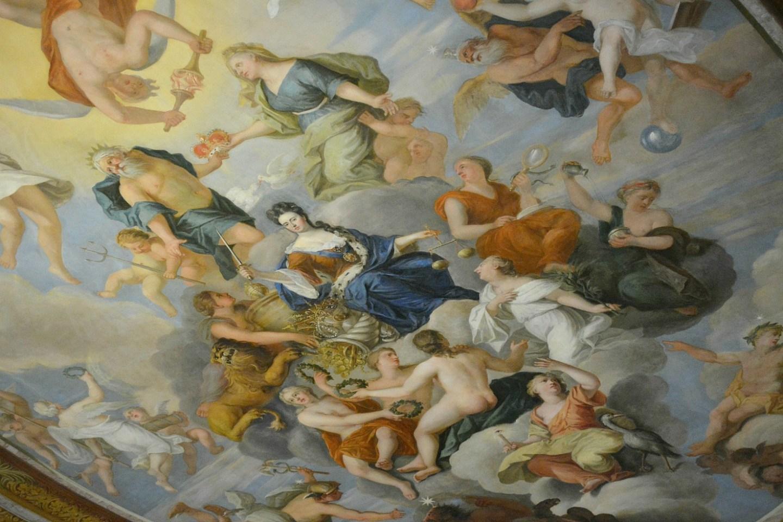 Queen Anne ceiling   Hampton Court Palace