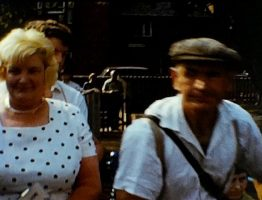 A still shot from a typical vintage home movie which shows several different scenes and events