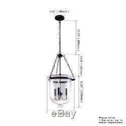 Rustic Vintage Pendant Ceiling Light Glass Lampshade Diy