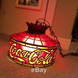 Vintage Drink Cocacola Tiffany Style Style Lamp Shade Red