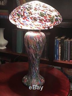 Vintage Millefiori Murano Glass Lamp Shade Venetian Art