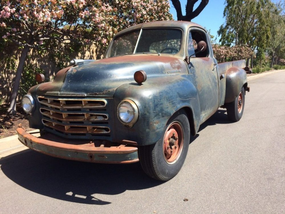 medium resolution of well preserved 1949 studebaker 2r10 3 4 ton long bed with overhauled engine