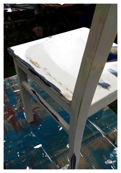 Stuhl vor dem 2. Anstich - vintage