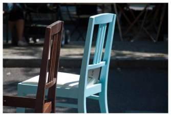 Stühle im Vergleich - vorher nachher