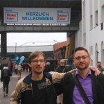 Sebastian und Robert auf der Maker Faire Berlin