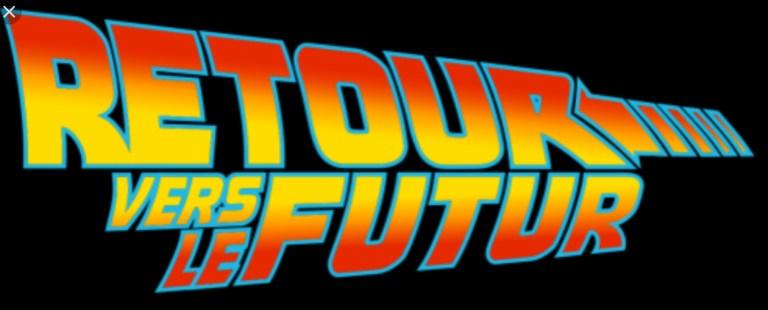 Logo retour vers le futur films cultes des années 80 chez les kikitch