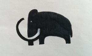 Logo du supermarché Mammouth dessiné par Minikitch