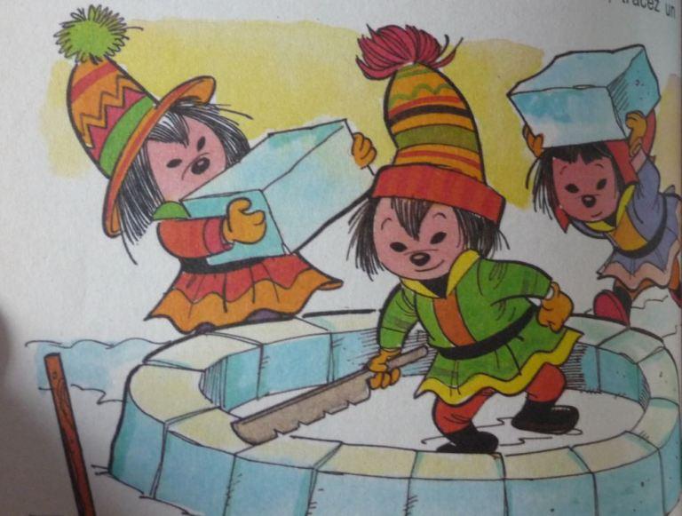extrait d'une page du neuvième manuel des Castors Juniors, construction d'un igloo