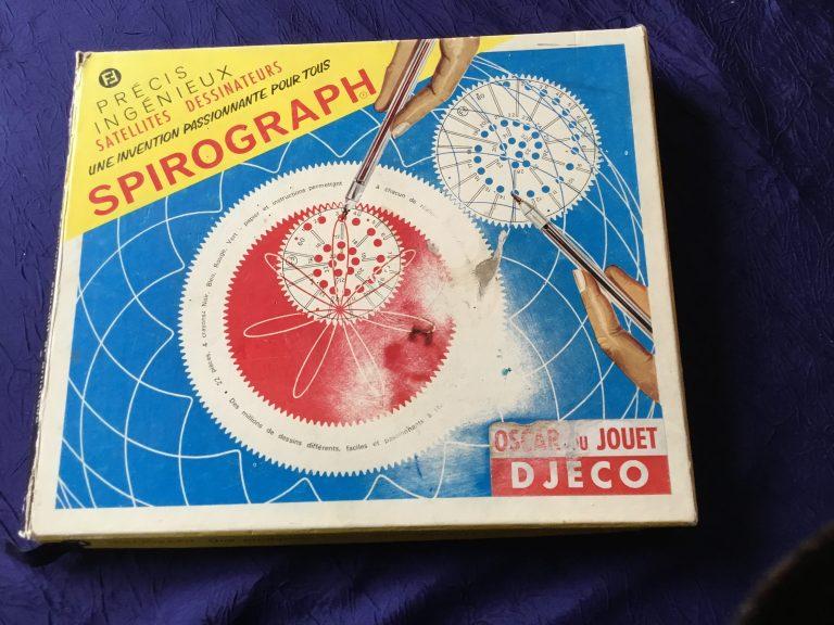 Spirograph boîte de jeu vintage de Denys Fisher appartenant à Kokitch