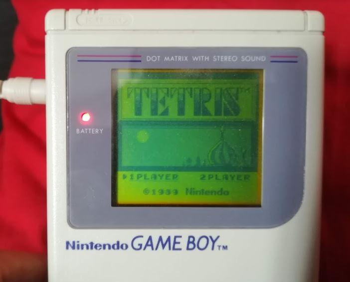 Game Boy Page d'accueil de Tetris