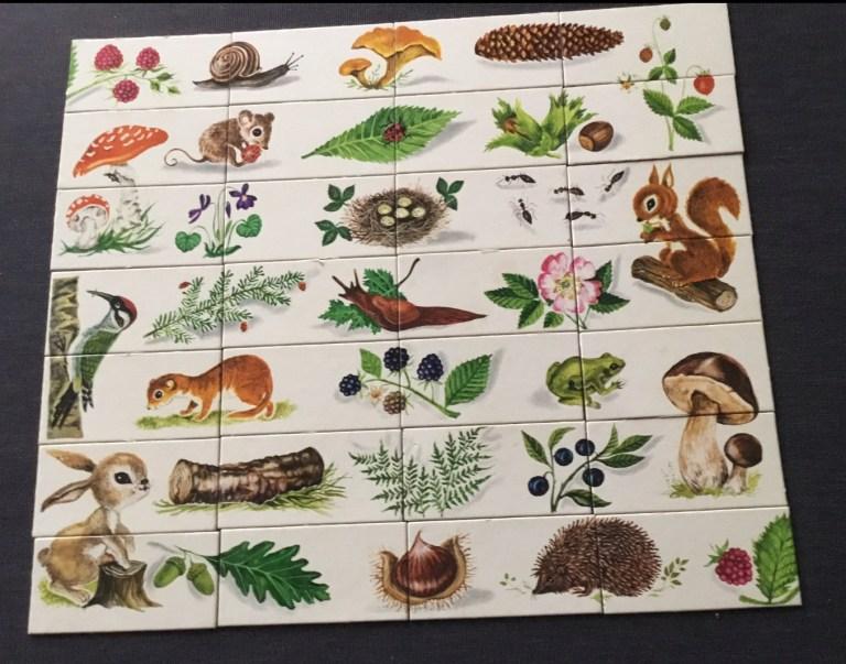 Jeu éducatif Fernand Nathan cartes du domino puzzle la forêt