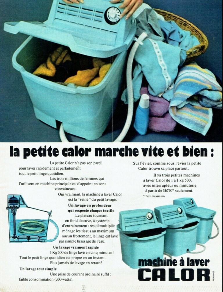 Mini machine à laver Calor vintage pub