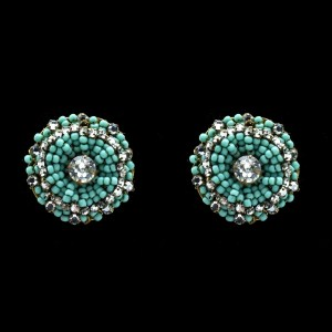 Miriam Haskell blue/turquoiselucite earrings