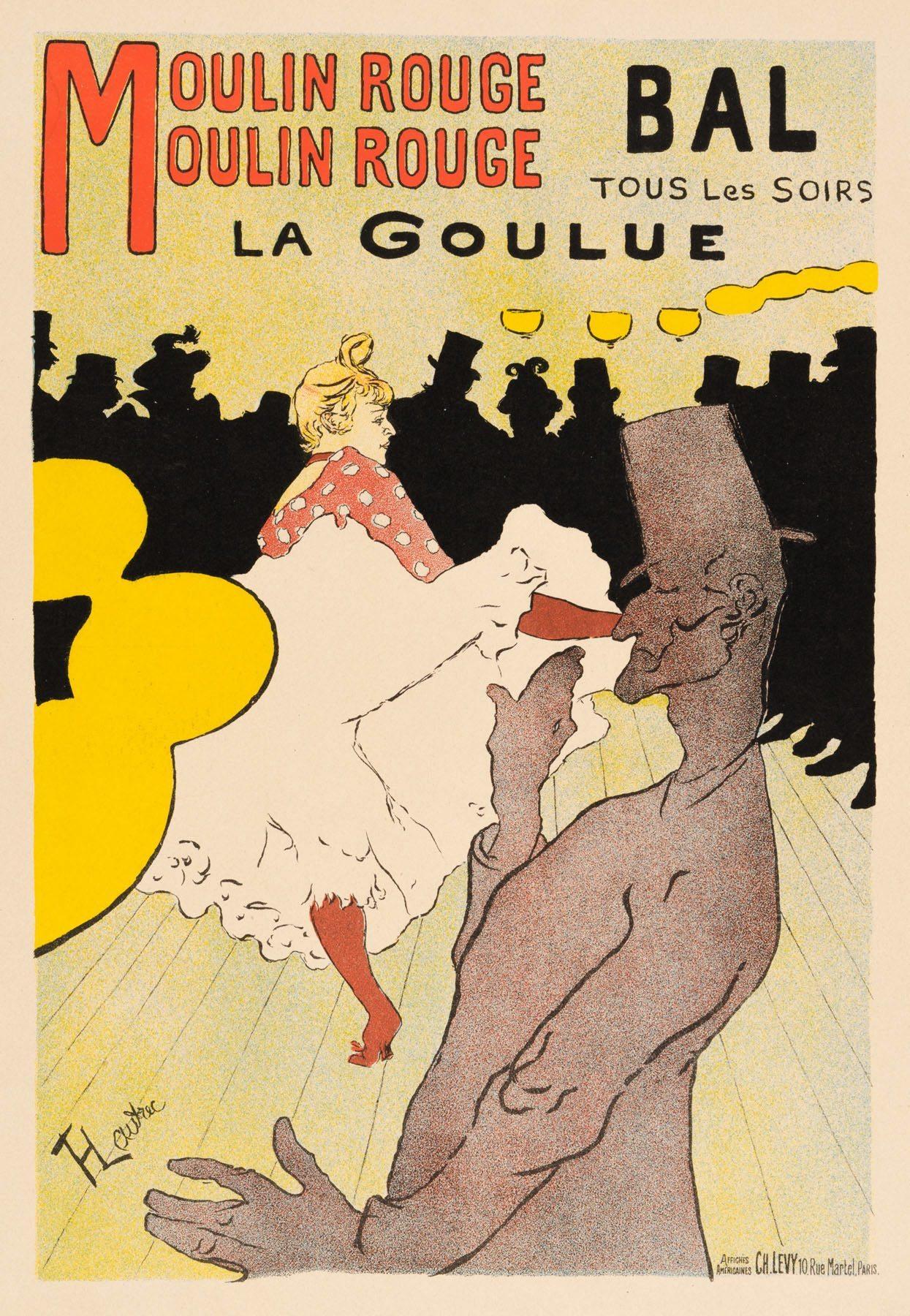 """Product Photo of """"Moulin Rouge: La Goulue"""" (Jules Cheret) Henri de Toulouse-Lautrec, 1896"""