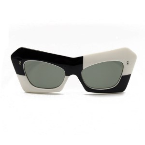 29772 - Funky French Black & White Sunglasses, 1960s