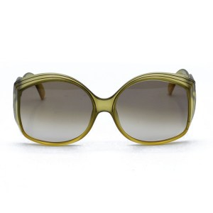 32173 - Christian Dior Green Oversized Sunglasses