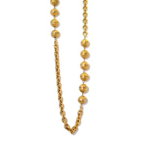 25006 - Chanel 35 1/2 Necklace with Stamped Beads, 1985