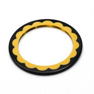 Black & Cream Scalloped Bakelite Bangle